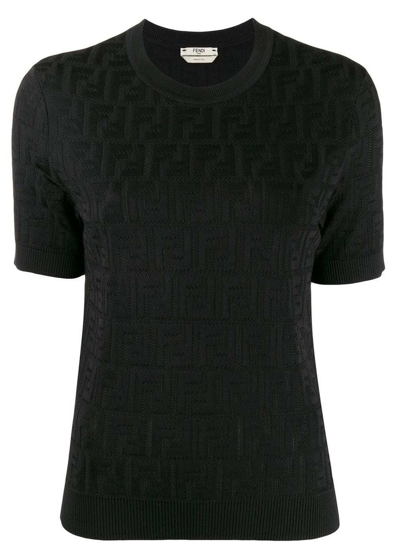 Fendi FF motif knitted top
