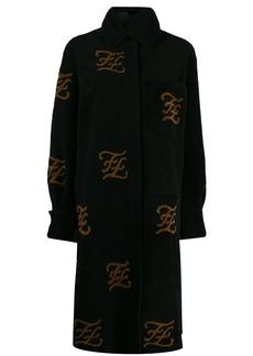 Fendi FF motif shearling coat