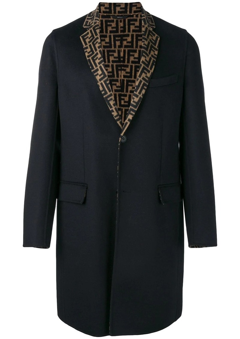 Fendi FF motif single-breasted coat