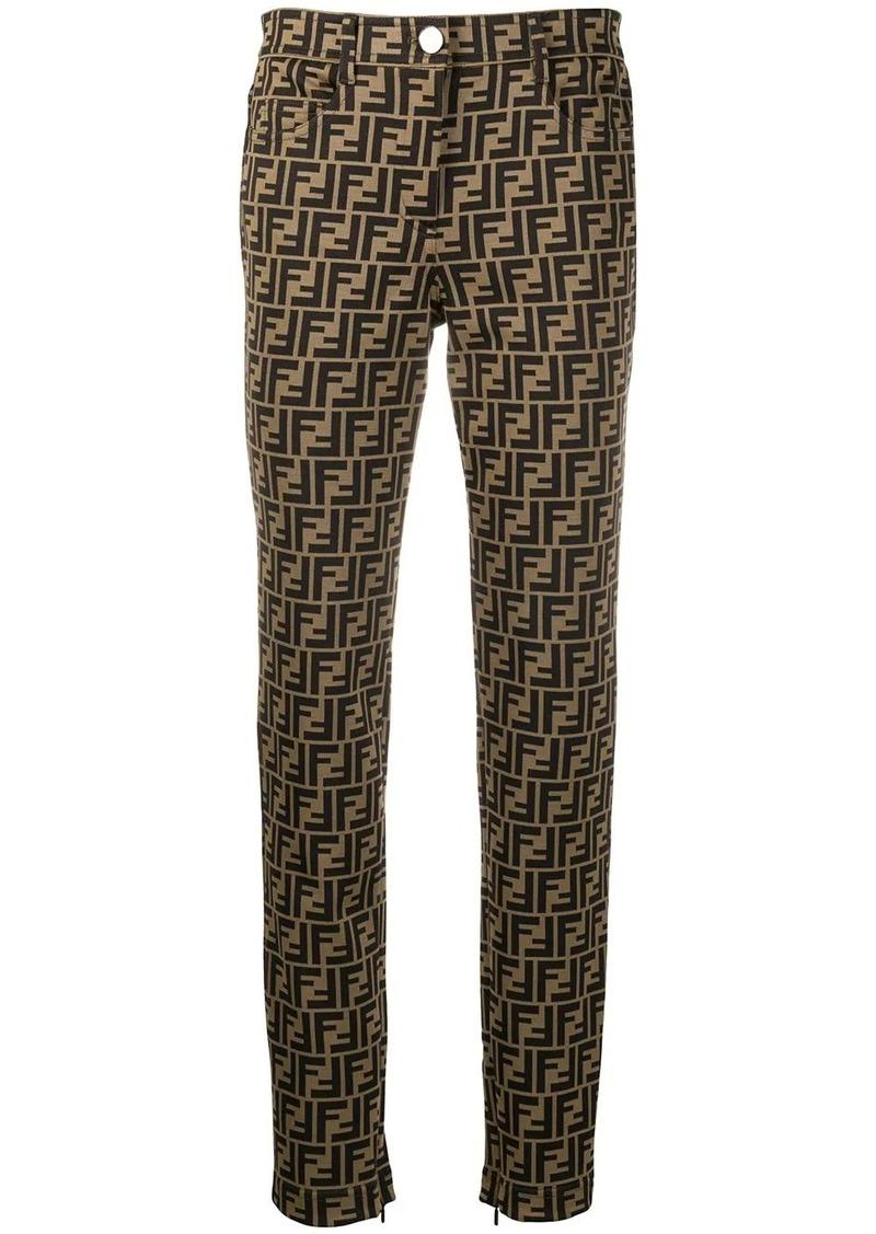 Fendi FF motif slim-fit trousers