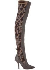 Fendi FF motif thigh-high boots