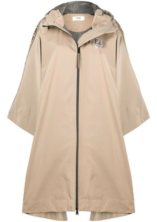 Fendi FF motif trim zipped rain coat