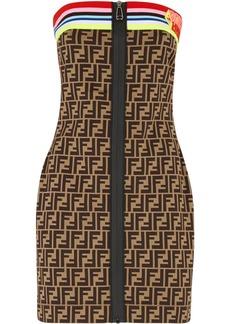 Fendi FF motif tube dress