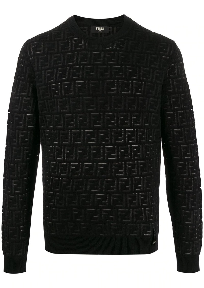 Fendi FF pattern crew neck jumper