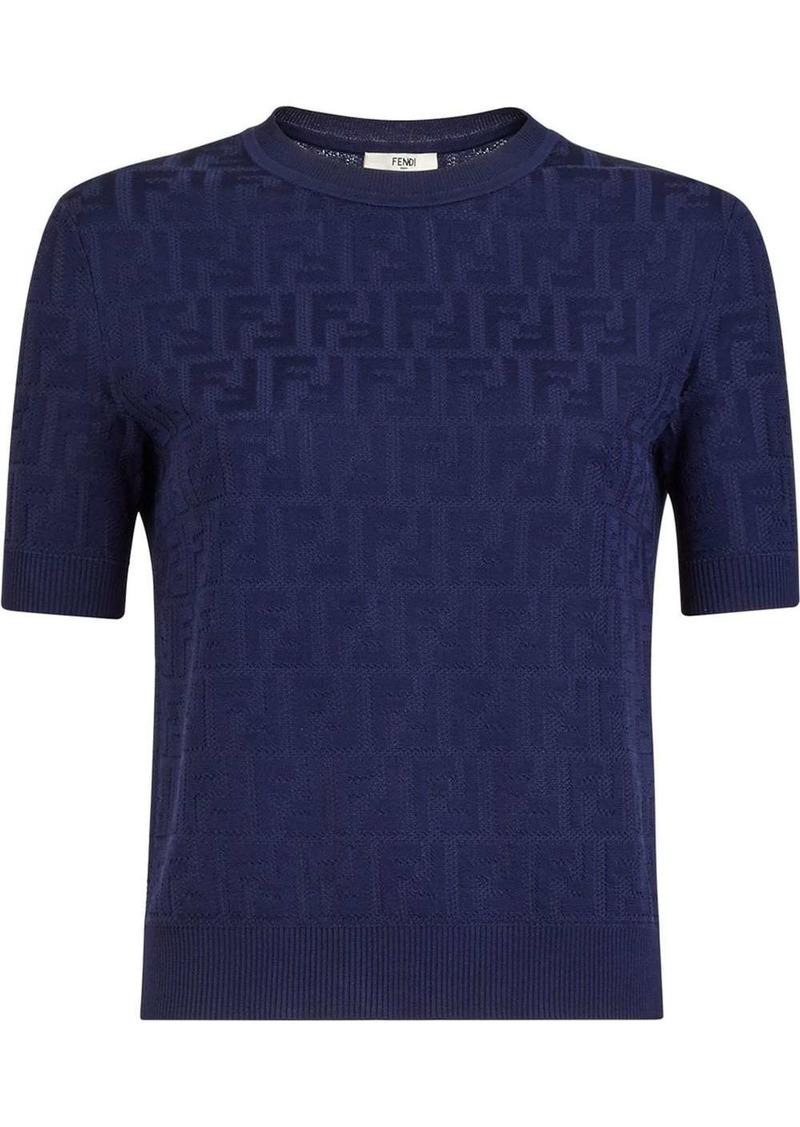 Fendi FF-pattern knitted top
