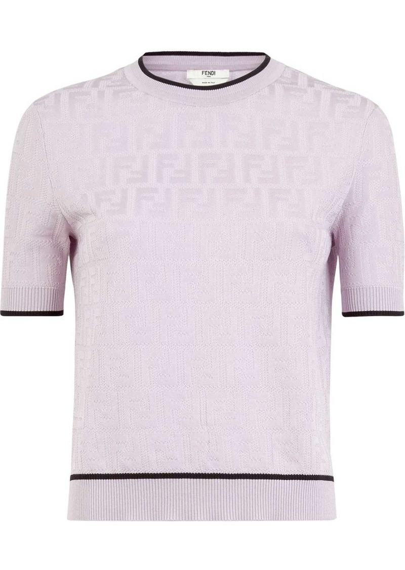 Fendi FF pattern knitted top