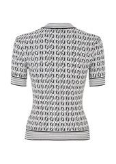 Fendi FF pattern woven top
