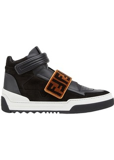 Fendi FF-patterned high-top sneakers