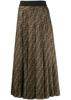 Fendi FF pleated midi skirt