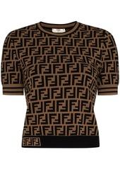 Fendi FF-print knitted top