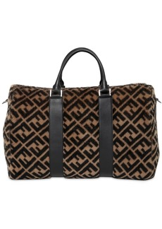 Fendi Ff Printed Fur Duffle Bag