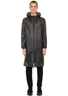 Fendi Ff Printed Transparent Pvc Rain Coat