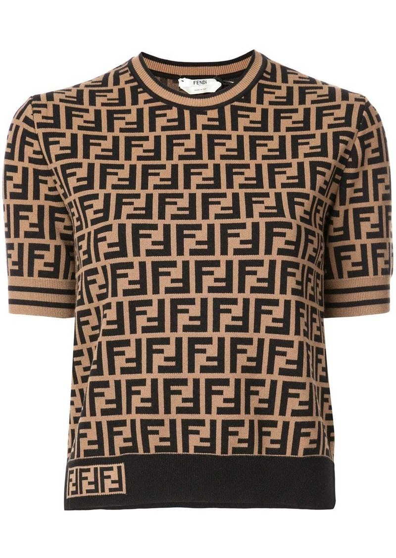 Fendi FF short sleeve sweater