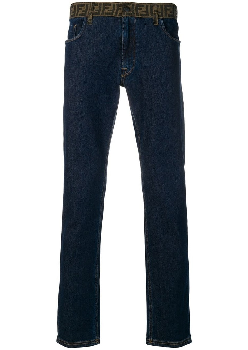 Fendi FF waistband jeans
