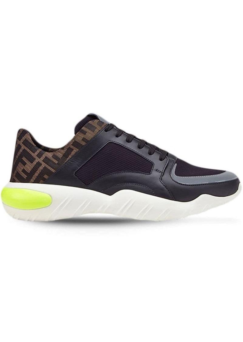 Fendi FF wavy sole sneakers