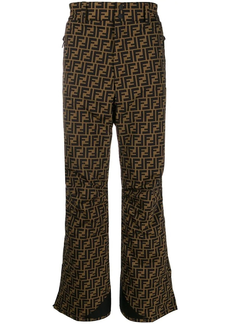 Fendi FF wide leg high-rise trousers