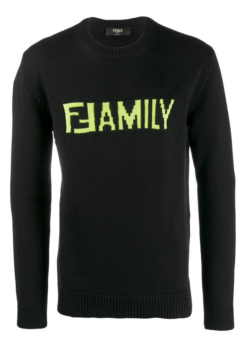 Fendi FFamily crewneck jumper