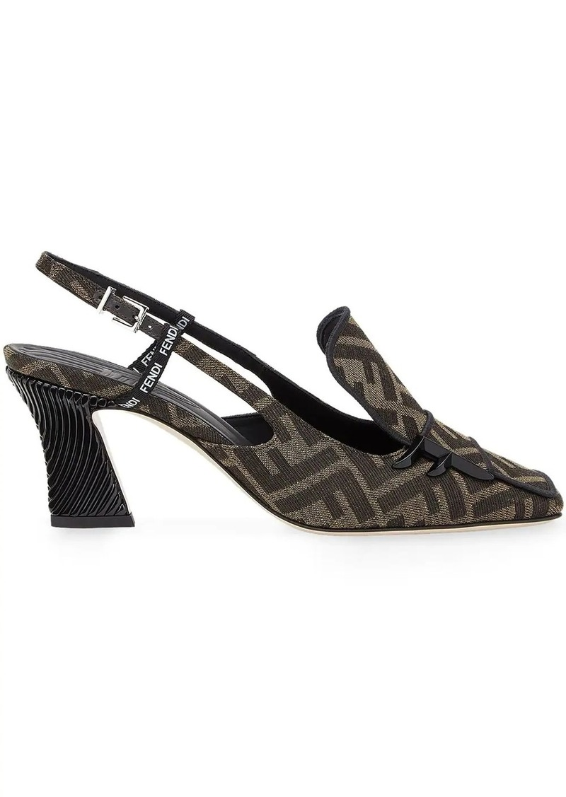 Fendi FFreedom slingback court shoes
