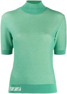 Fendi fishnet knitted top