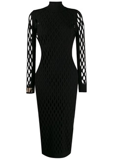 Fendi fitted mesh dress