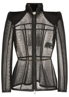 Fendi fitted micromesh jacket