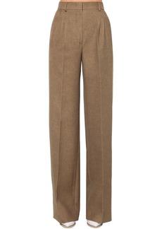Fendi Flared Wool & Silk Flannel Pants