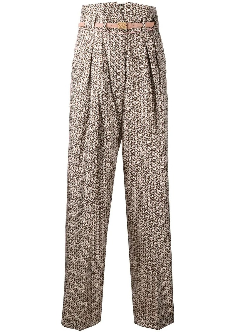 Fendi Floating Petals high-waisted trousers