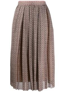 Fendi Floating Petals print pleated skirt