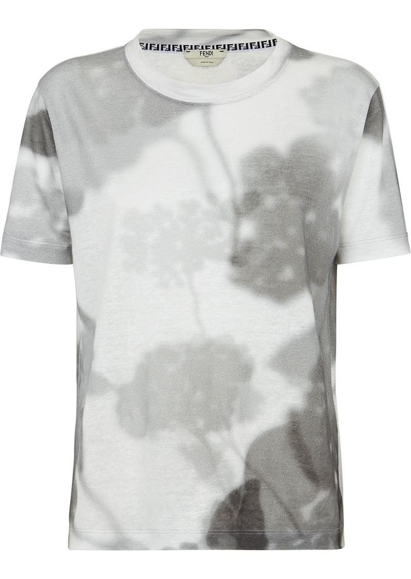 Fendi floral-print crew-neck T-shirt