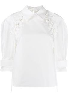 Fendi floral tassel blouse
