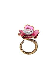 Fendi flower embellished ring