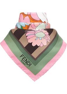 Fendi Flowers bandana scarf