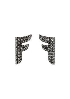 Fendi Flying F logo earrings