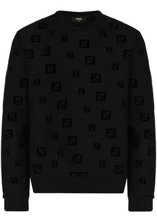 Fendi FF-motif chenille sweatshirt