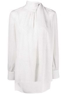 Fendi foulard collar blouse