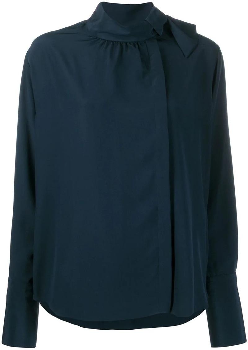 Fendi foulard collar flowing blouse