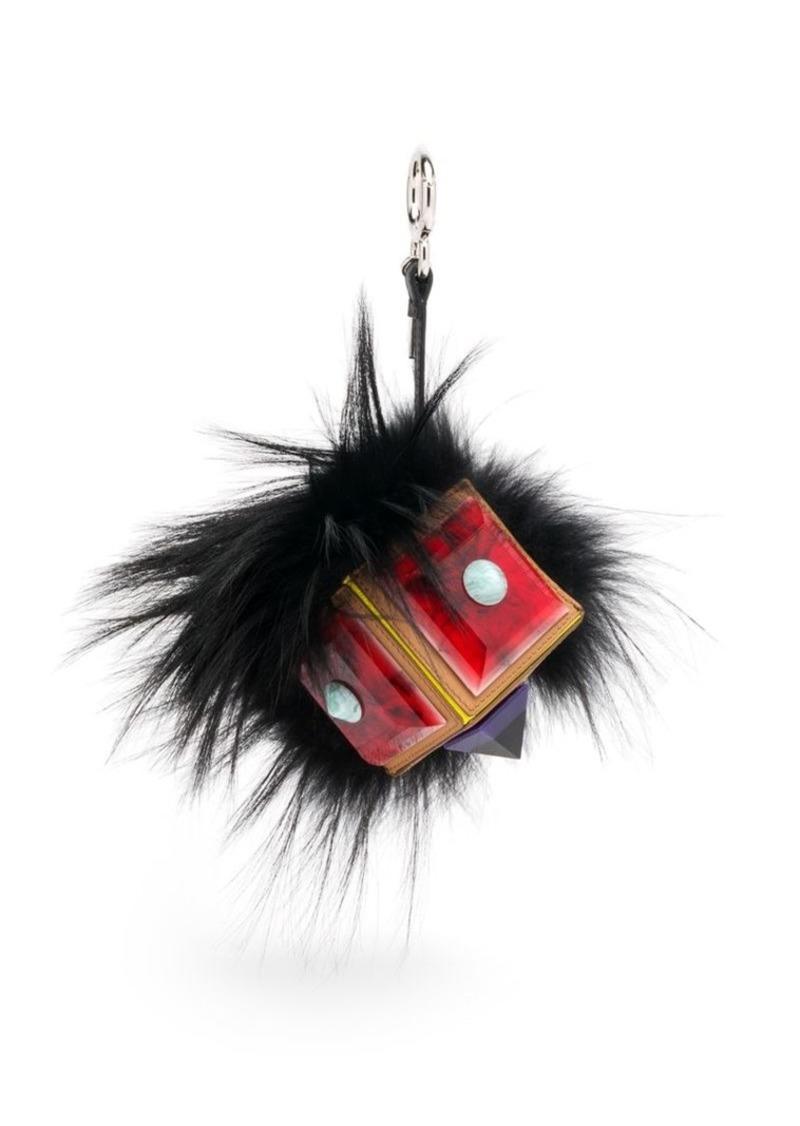 Fendi Prism Bag Bug Fox Fur & Leather Charm