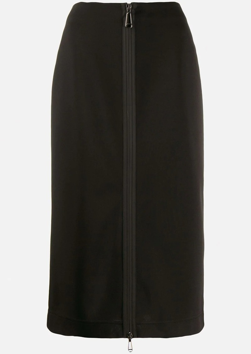 Fendi front zip midi skirt