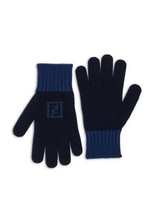 Fendi Fun Logo Wool & Cashmere Gloves