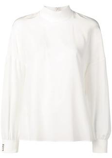 Fendi funnel-neck logo blouse