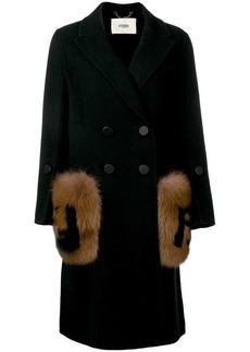 Fendi fur detail overcoat