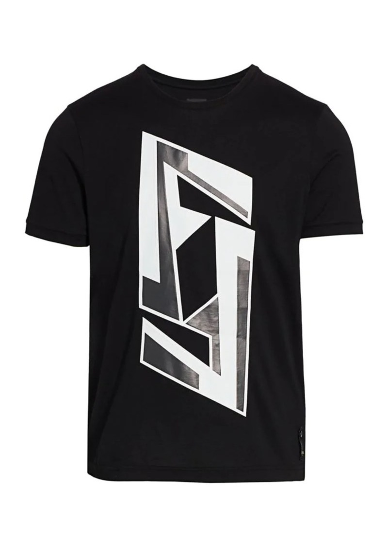 Fendi Futuristic Print Cotton Tee