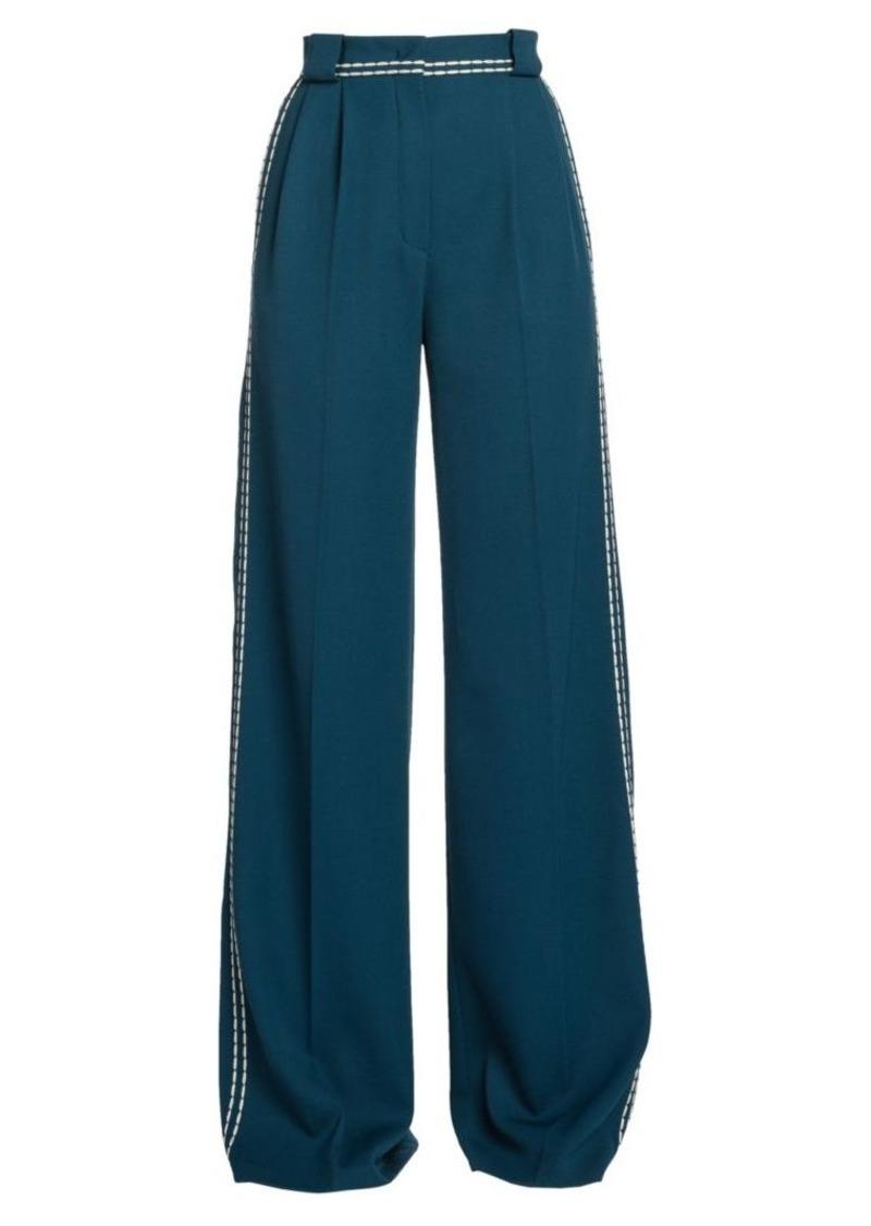 Fendi Garbadine Twill High-Waist Pants
