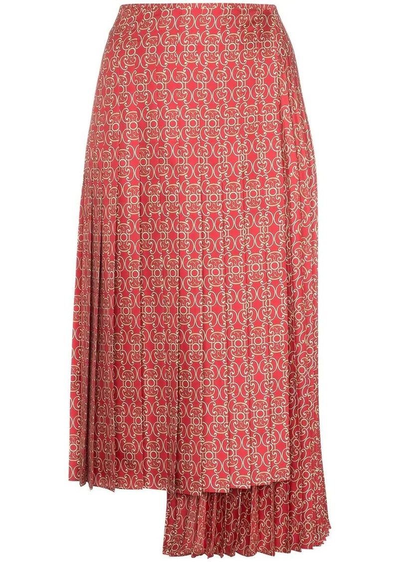 Fendi Gate printed midi skirt