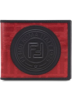 Fendi glazed jacquard billfold wallet
