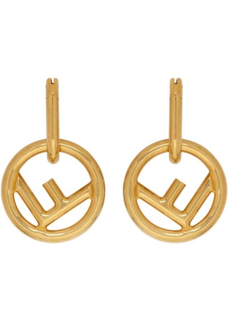 Gold 'F is Fendi' Hoop Earrings