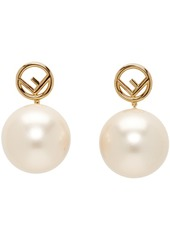 Gold Pearl 'F is Fendi' Earrings