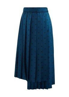 Fendi Gonna Karligrafy Pleated Skirt