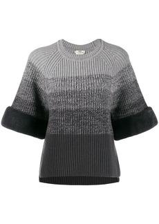 Fendi gradient knitted jumper