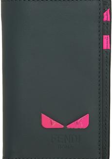 Fendi Grey & Pink Vertical Card Holder